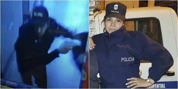 Las cámaras de seguridad de la comisaría captaron a los delincuentes que balearon a Rocío Villarreal<br>