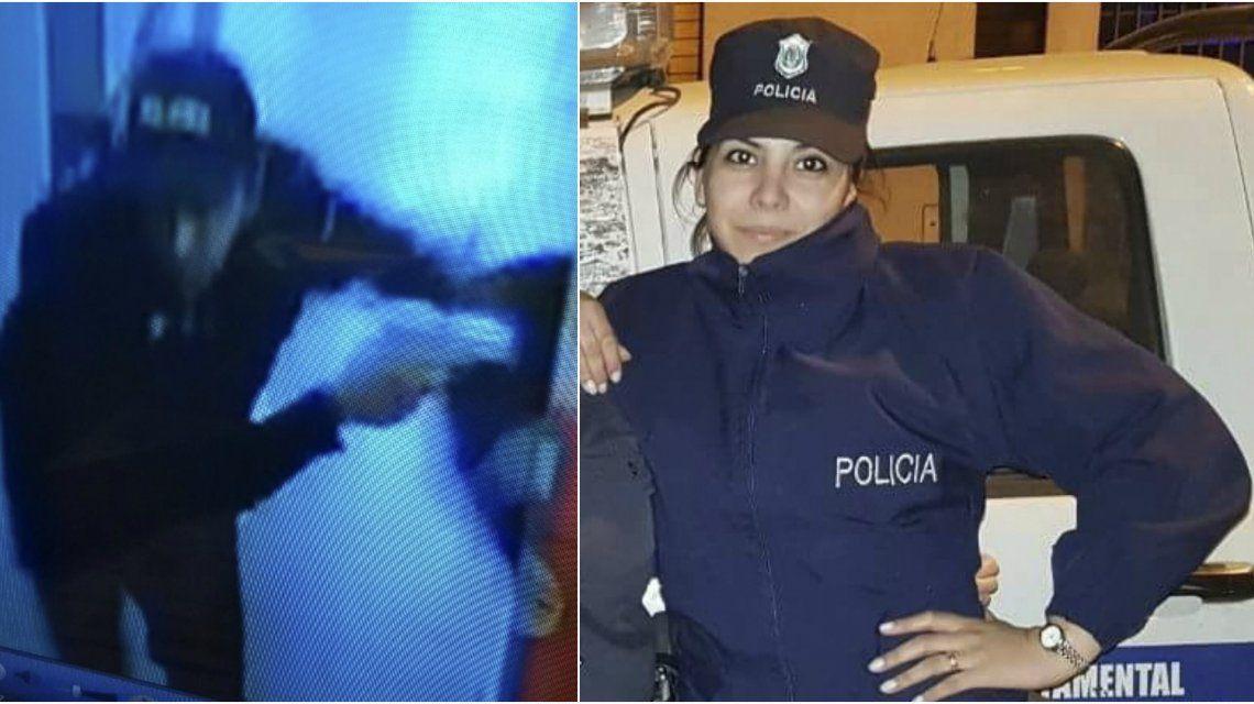 Las cámaras de seguridad de la comisaría captaron a los delincuentes que balearon a Rocío Villarreal