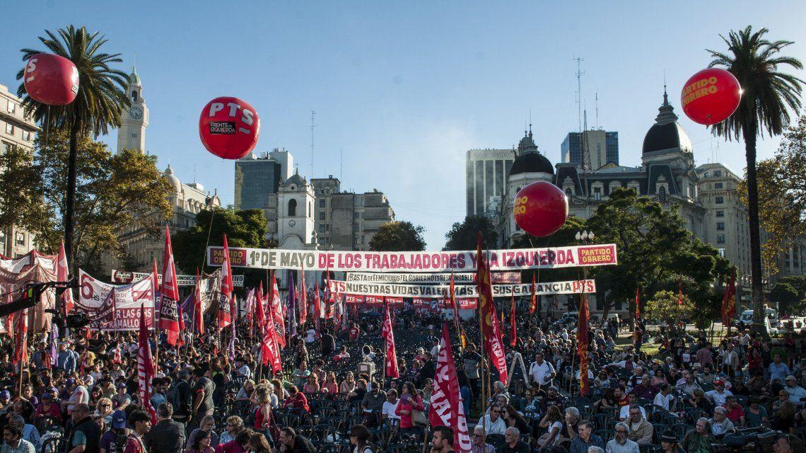 Acto de la izquierda por el Día del Trabajador