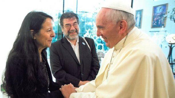Ana María Careaga y el Papa Francisco
