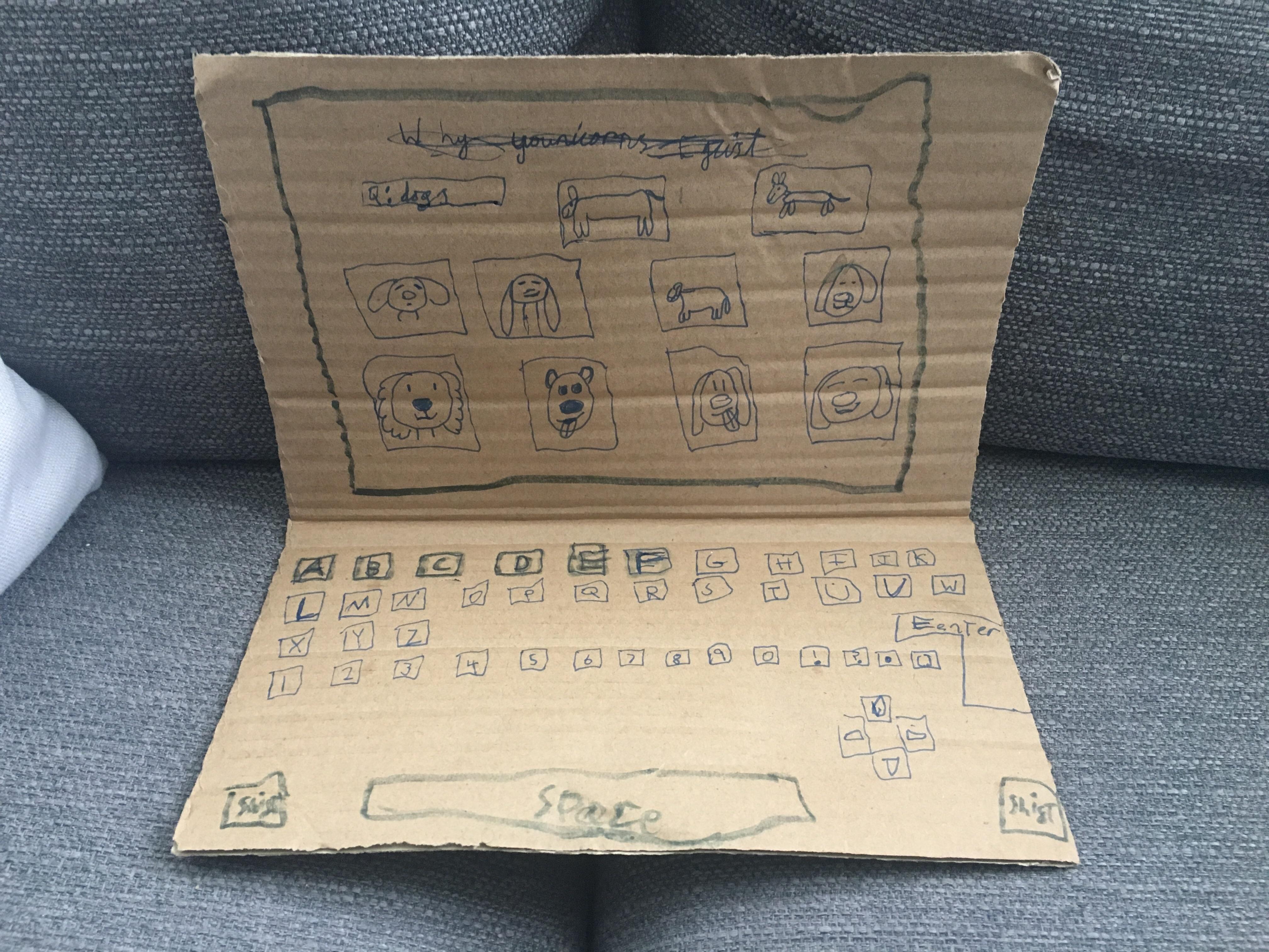 Una nena creó su propia computadora