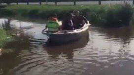 Papelón en Pilar: el intendente simuló que recorría zonas inundadas