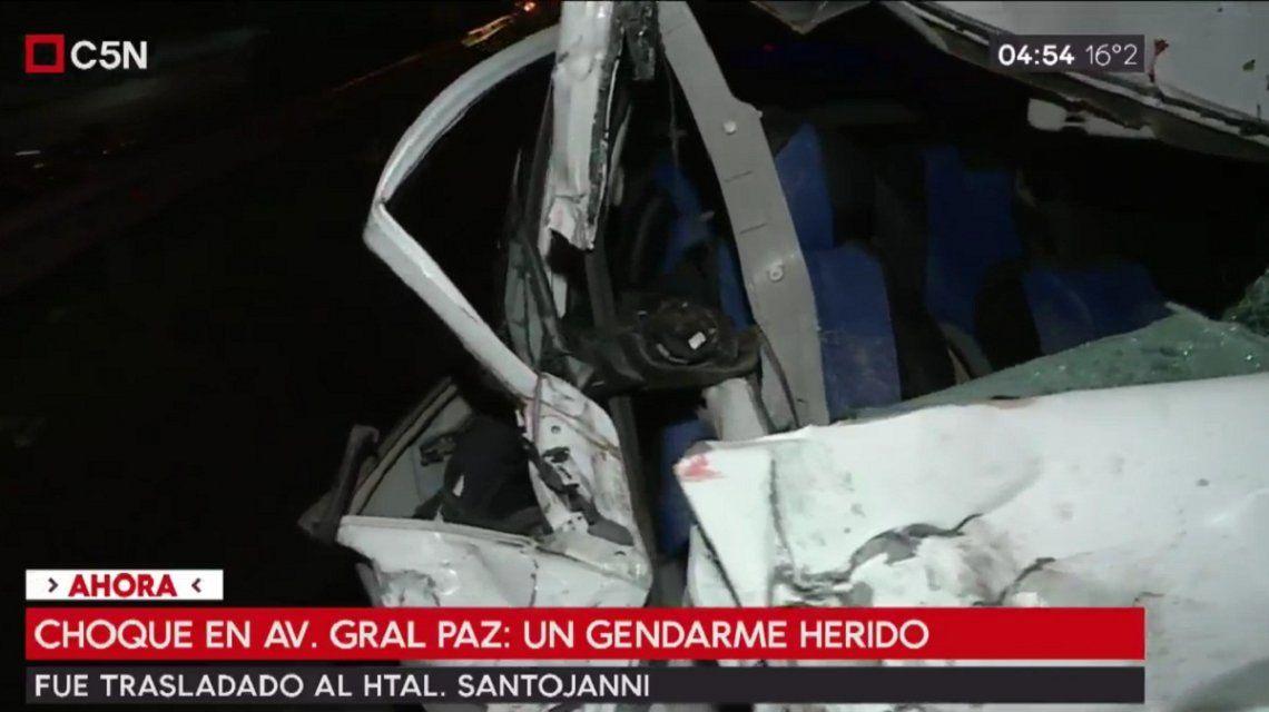 Choque en General Paz y Eva Perón