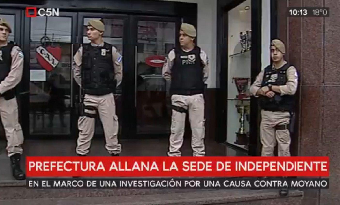 Nuevo allanamiento en la sede de Independiente en Avellaneda