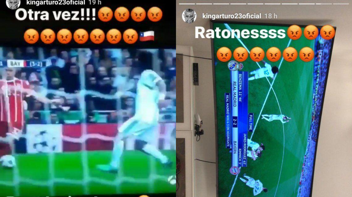 Furioso, Arturo Vidal denigró a Cristiano Ronaldo y explotó contra el Real Madrid
