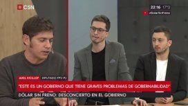 Axel Kicillof estuvo con Darío Gannio e Iván Schargrodsky