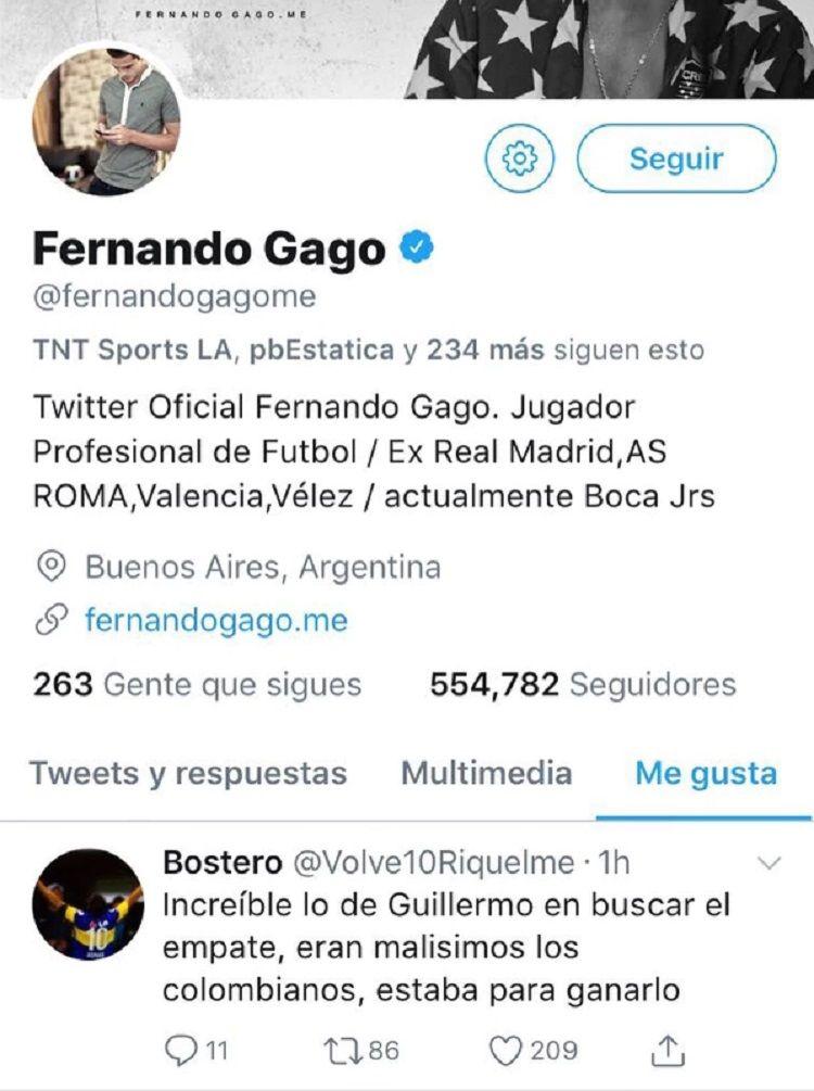 El like de Fernando Gago