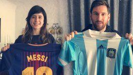 Messi cumplió el sueño de una joven con quien intercambió su camiseta