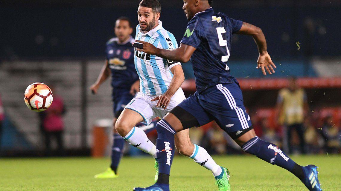 Racing vs Universidad de Chile en la Libertadores