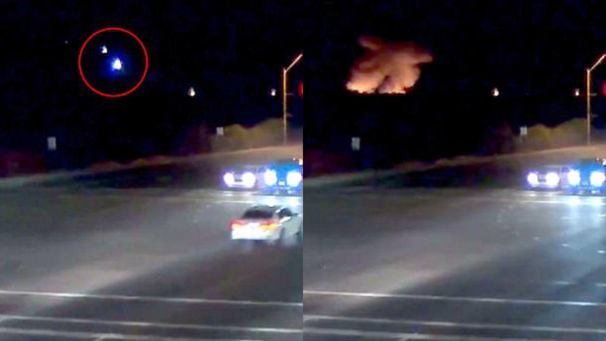 Una cámara de la policía de Scottsdale capturó el momento en que el avión se precipitó a tierra