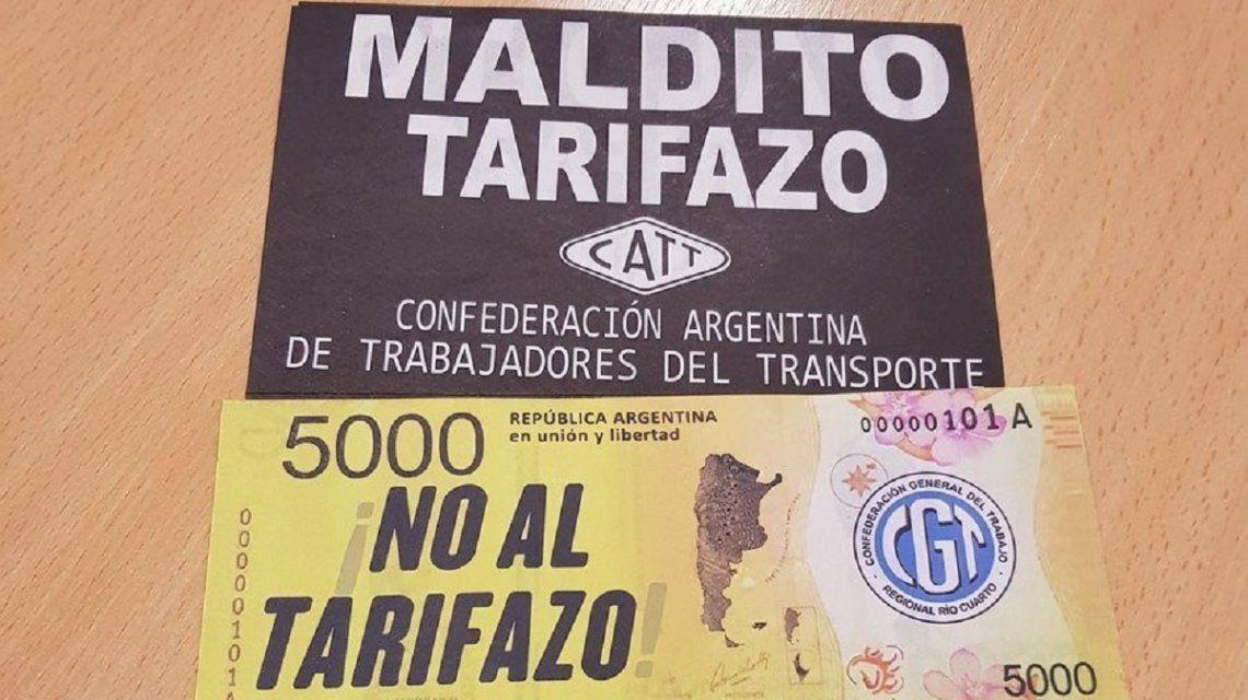Marcha contra el tarifazo de la CGT