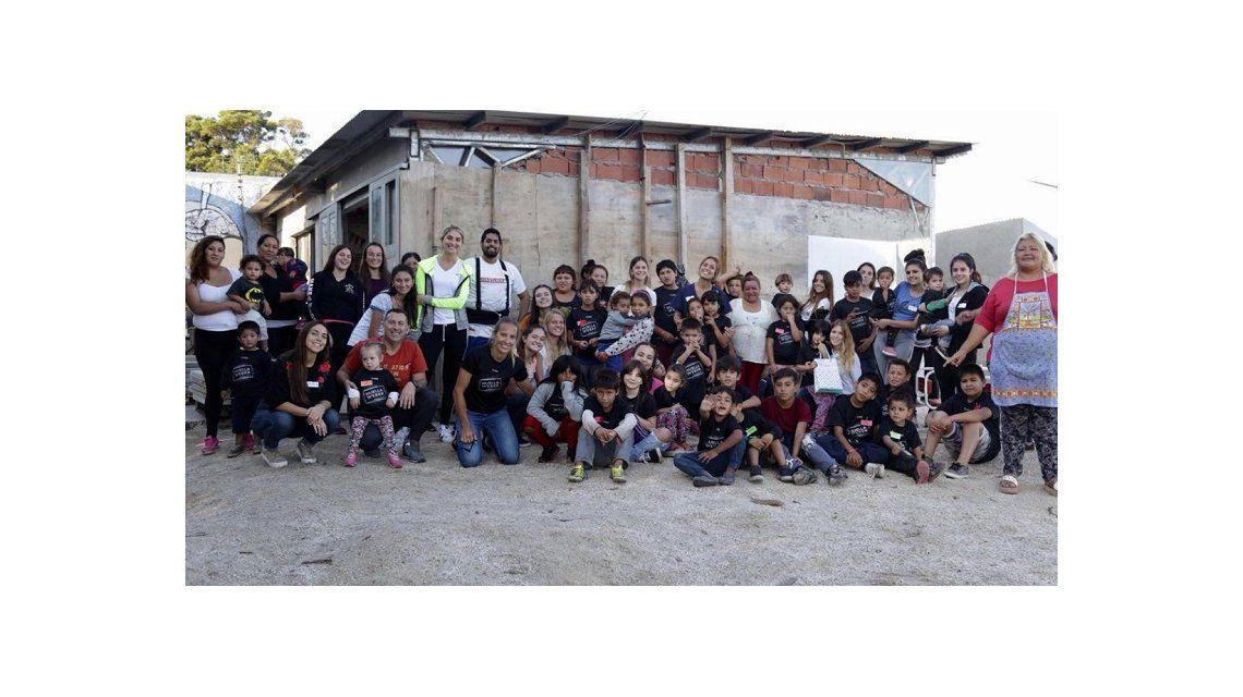 Gallay en el merendero de Mar del Plata que eligió ayudar con el programa solidario