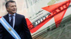 En los últimos dos años, la deuda externa aumentó casi 77 mil millones de dólares