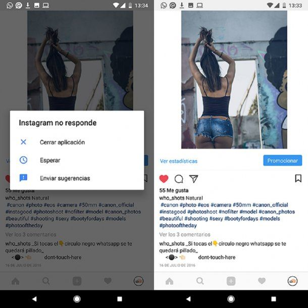 El círculo negro en Instagram