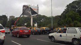 Protesta de taxistas contra Uber - Crédito:@nbg__
