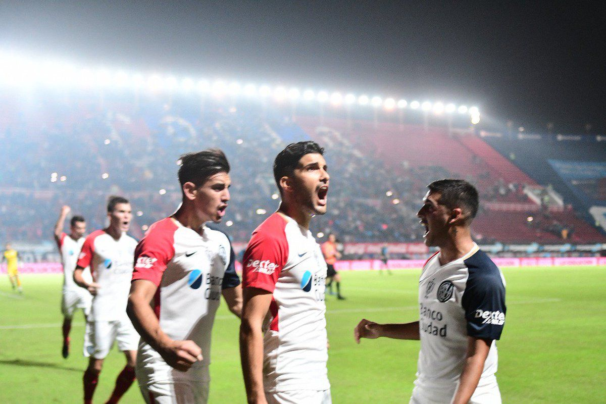 Gol de Blandi para San Lorenzo - Crédito: @argsaf