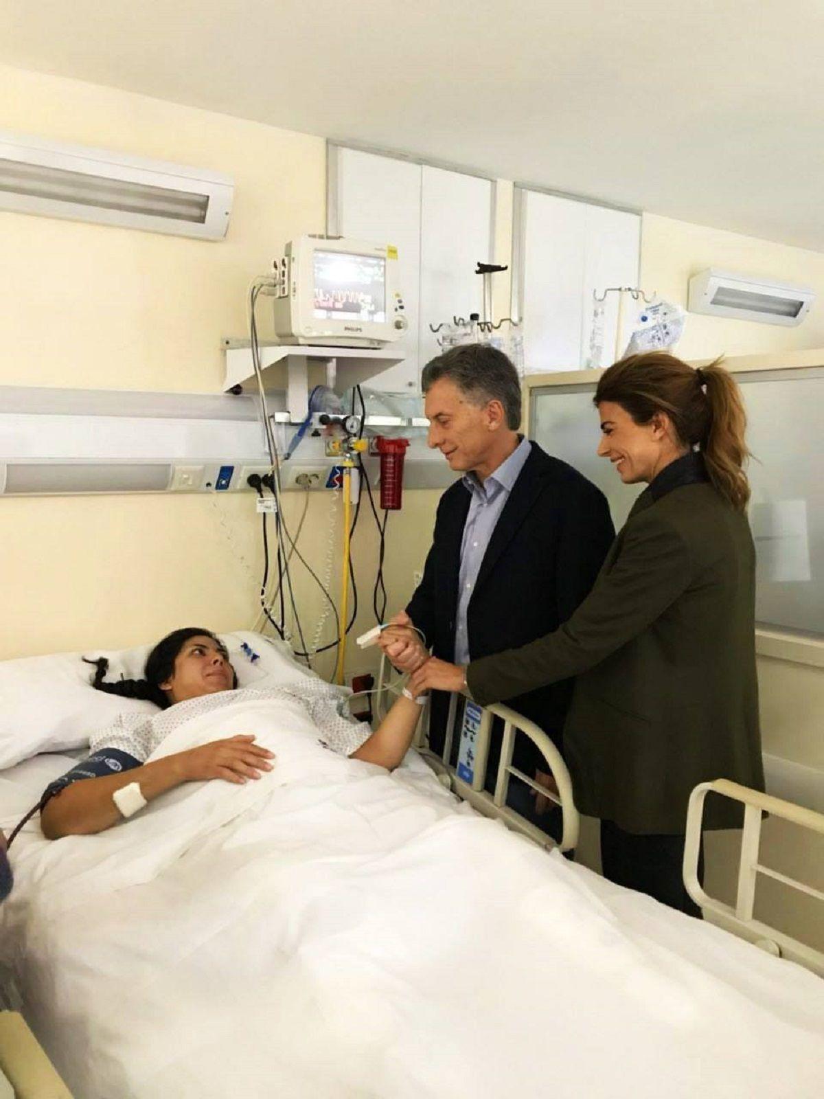 Mauricio Macri y su mujer