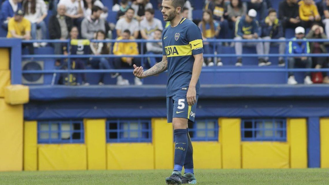 Fernando Gago en la Reserva de Boca - Crédito: @BocaJrsOficial