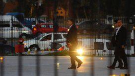 Mauricio Macri retirándose de la Casa Rosada. Foto archivo.