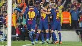 Con gol de Messi, Barcelona empató con el Real en la despedida de Iniesta