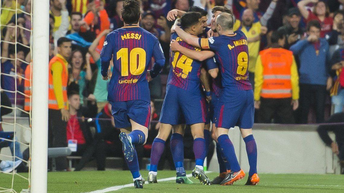 Con gol de Lionel Messi, Barcelona empató con Real Madrid en la despedida de Andrés Iniesta