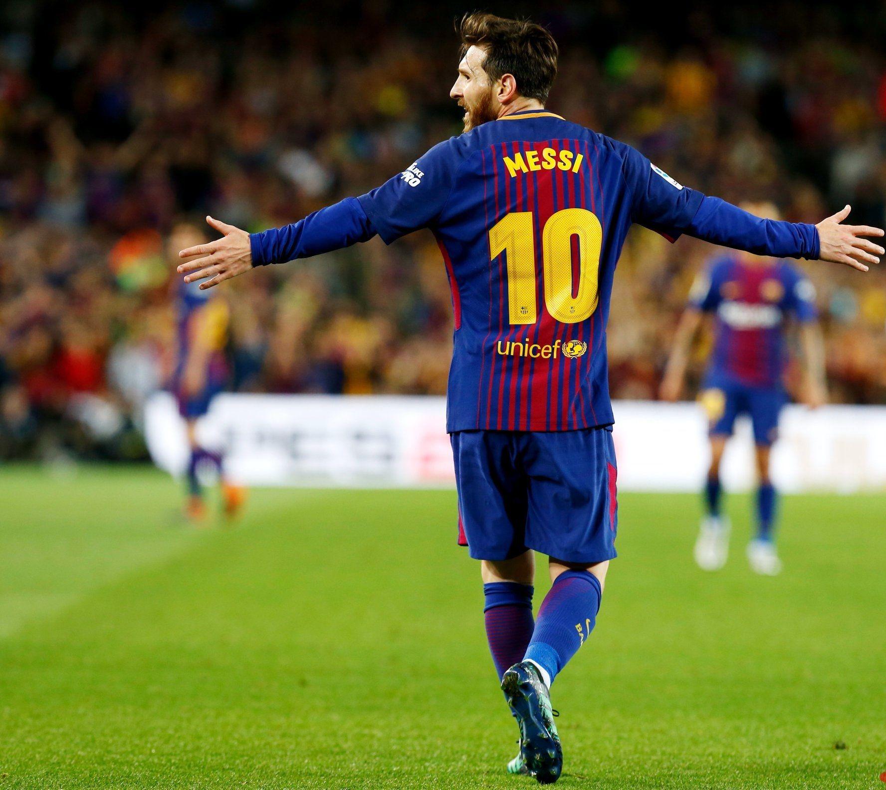 Lionel Messi en Barcelona - Crédito: @LaLiga