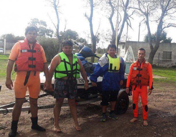El equipo que intervino en el rescate<br>