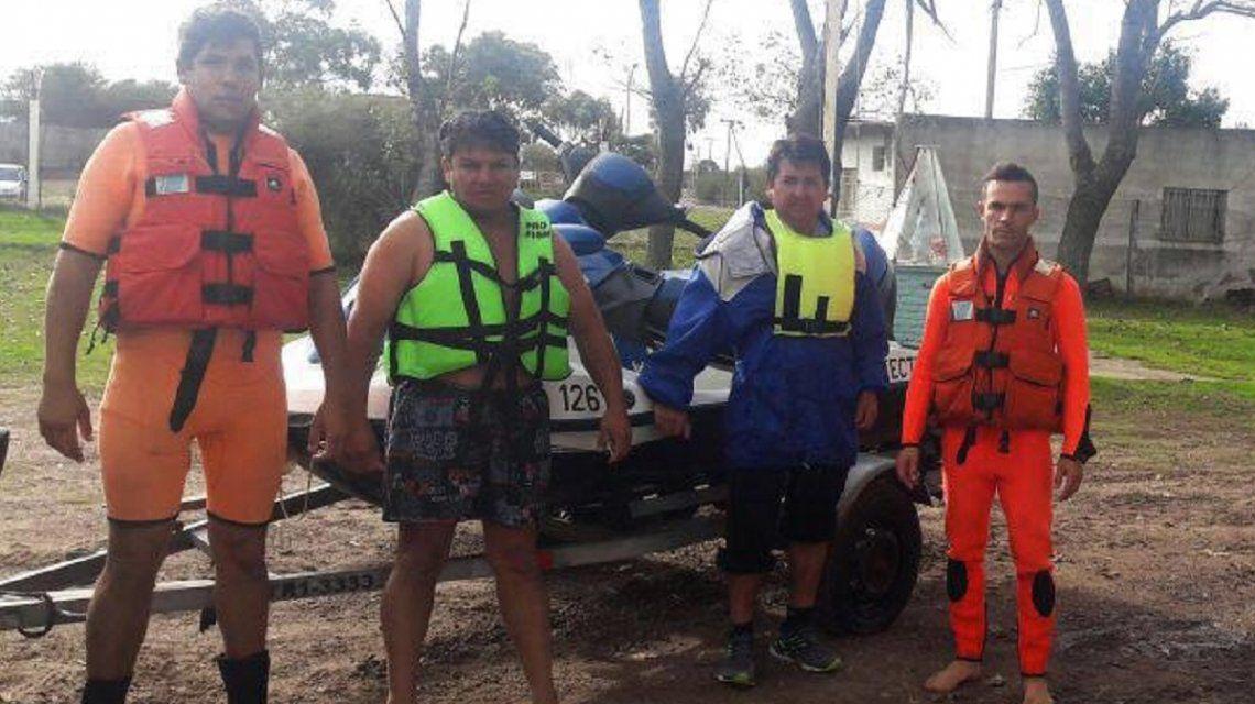 El equipo que intervino en el rescate