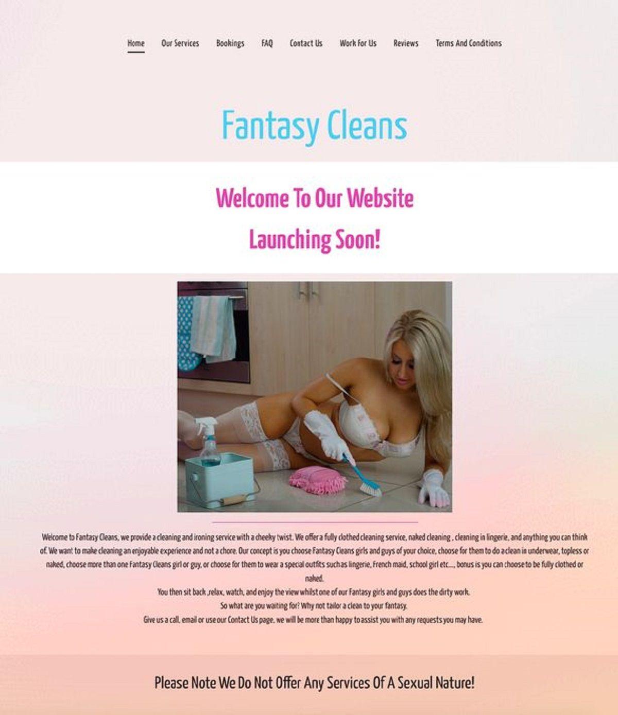 El aviso de Fantasy Cleans