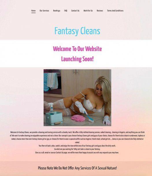 El aviso de Fantasy Cleans<br>