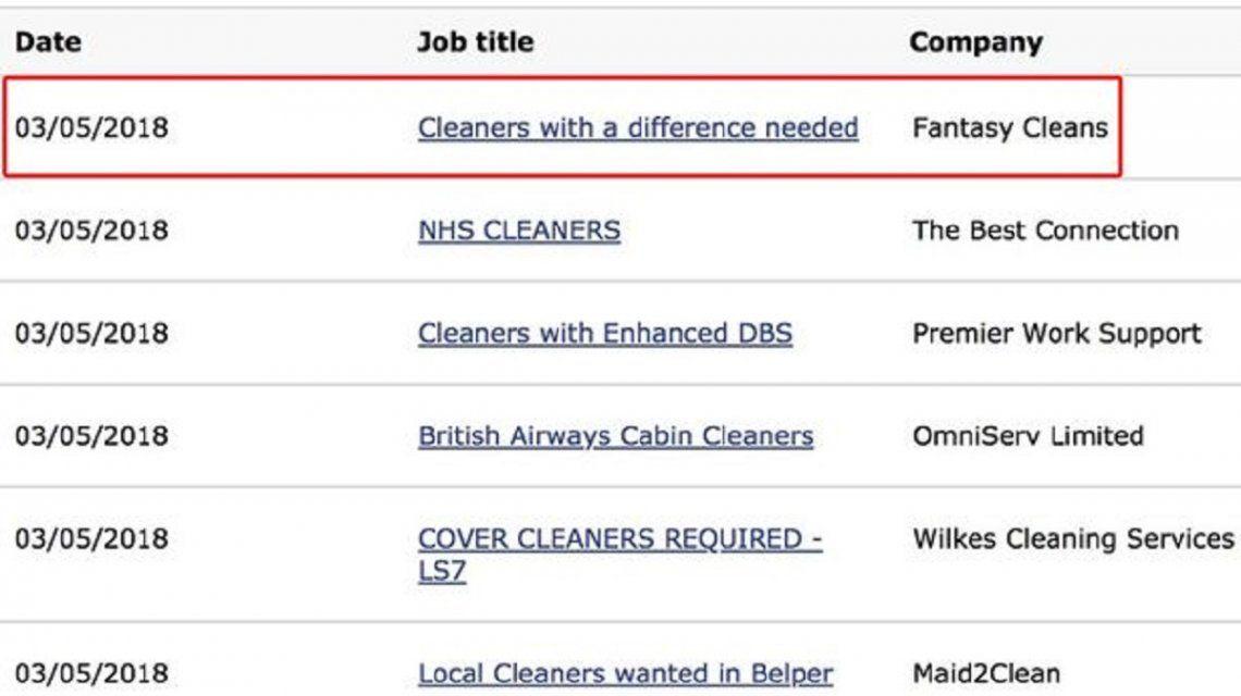 Ofrecían trabajo como empleados domésticos a quienes aceptaran limpiar desnudos
