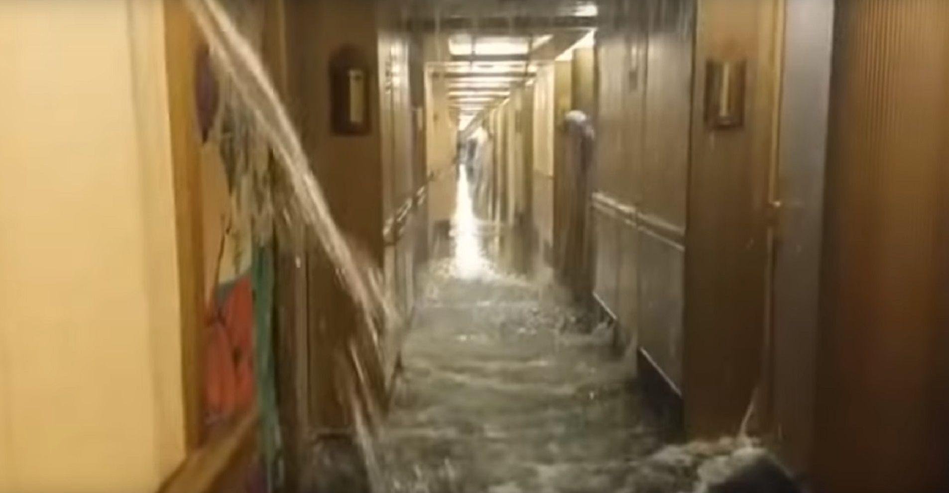 VIDEO: A lo Titanic, un crucero se inundó y generó pánico entre los pasajeros