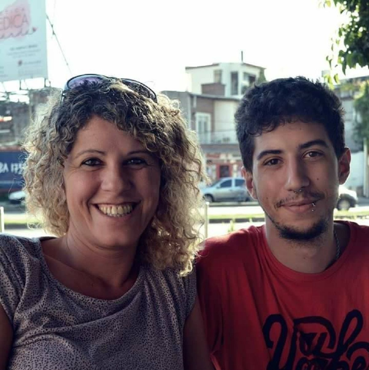 Nacho y su mamá Mercedes