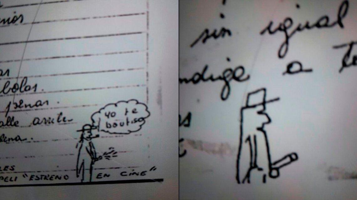 Estos son los dibujos con los que firmaba una carta