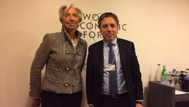 Christine Lagarde, titular del FMI y el ministro Nicolás Dujovne