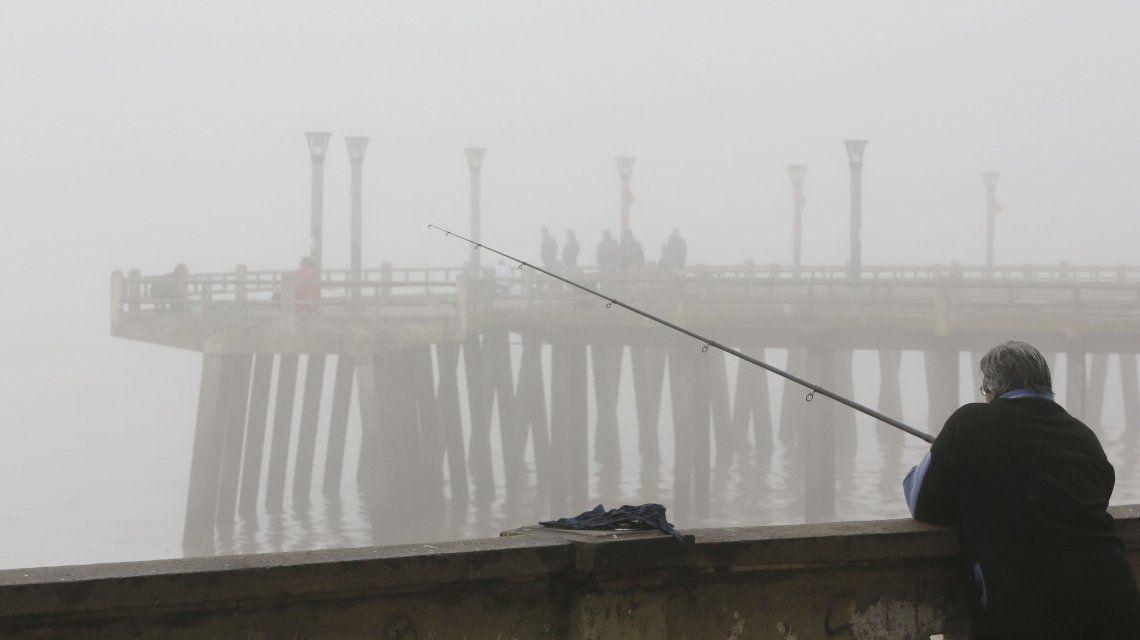 Abundante niebla en la Ciudad de Buenos Aires