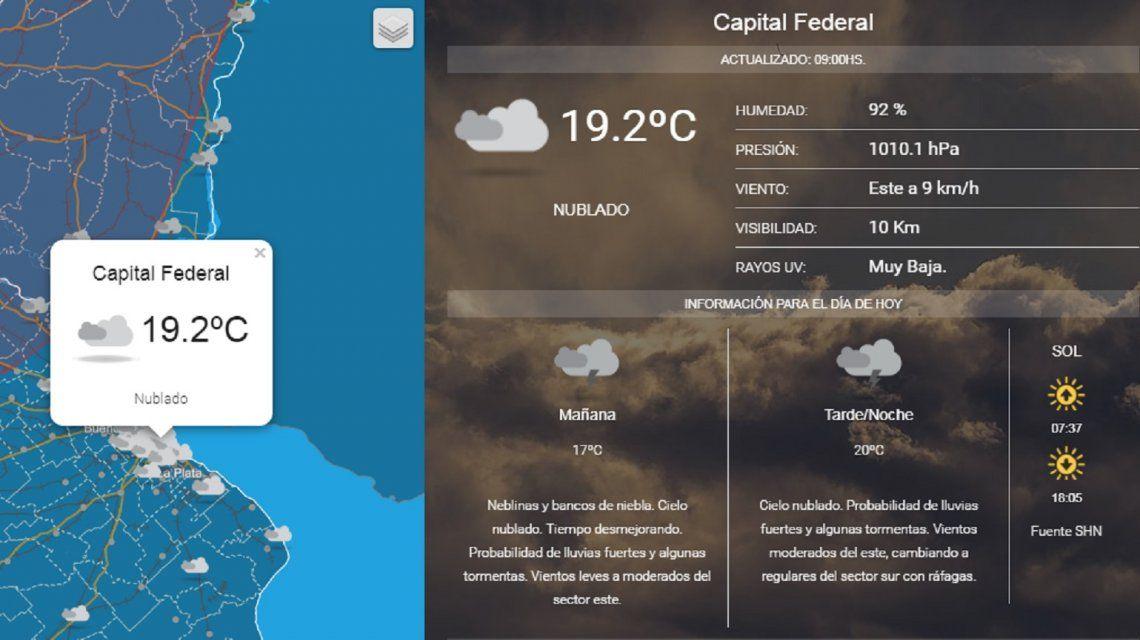 Sigue el mal tiempo: alerta por tormentas y vientos fuertes en la Ciudad