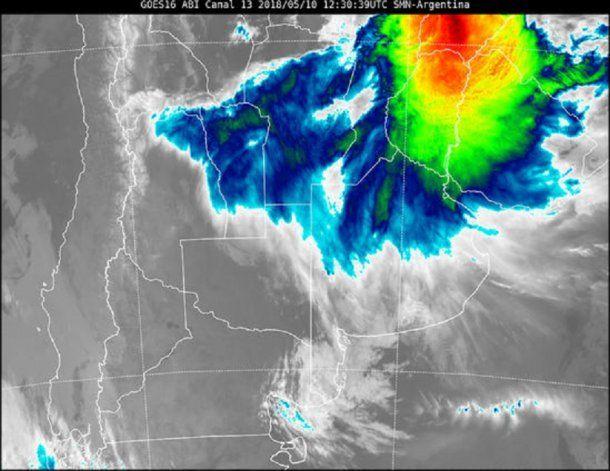 Un sistema de baja presión provocará fuertes lluvias. (SMN)