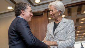 Lagarde y Dujovne tras la reunión