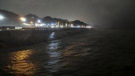 En la Costanera porteña hay viento y niebla