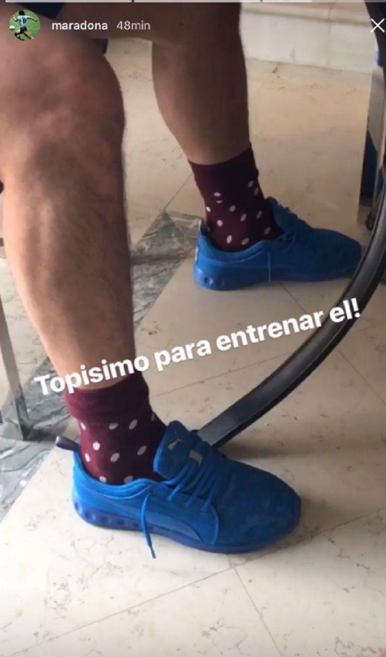 Rocío Oliva deschavó a Maradona en Instagram con una intimidad