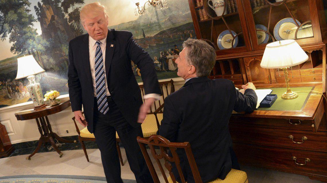 Donald Trump y Mauricio Macri en el encuentro que tuvieron en 2017