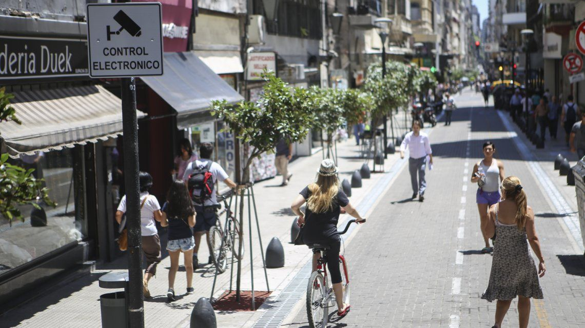 El Centro Peatonal porteño tendrá acceso prohibido para autos