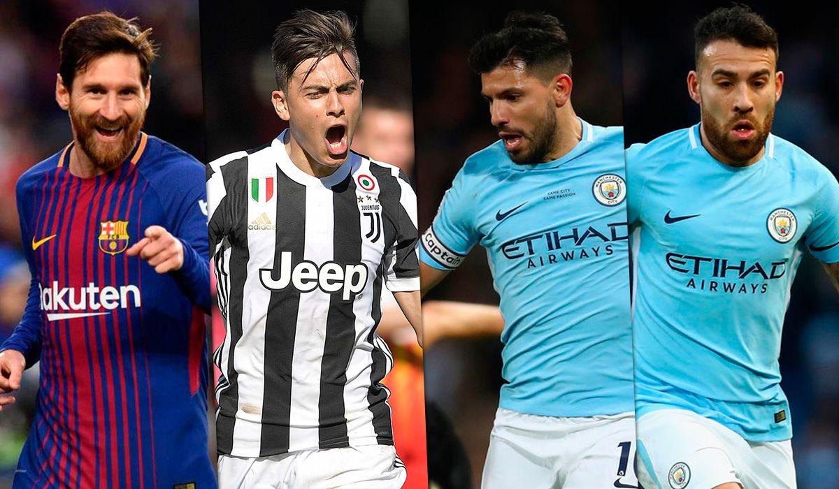 A menos de un mes del Mundial: cuatro argentinos, entre los cinco mejores jugadores del mundo