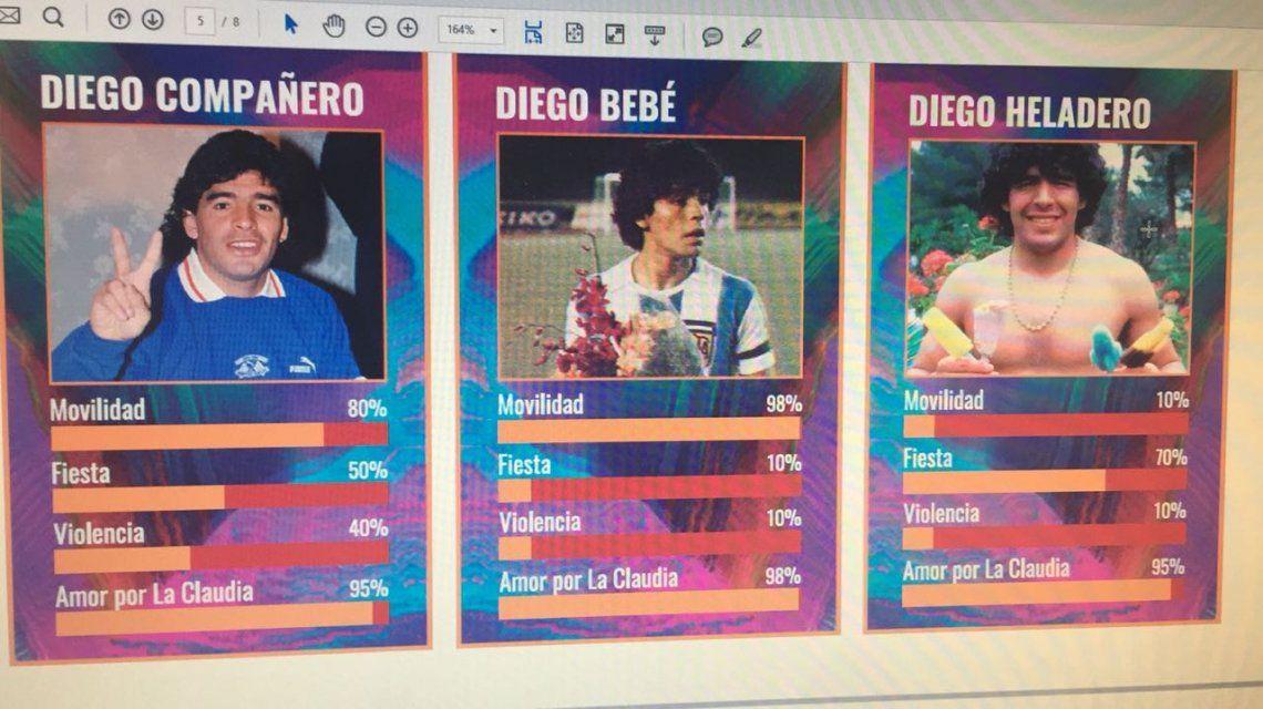 Las cartas, según Maradona: el desopilante juego que se viralizó en Whatsapp