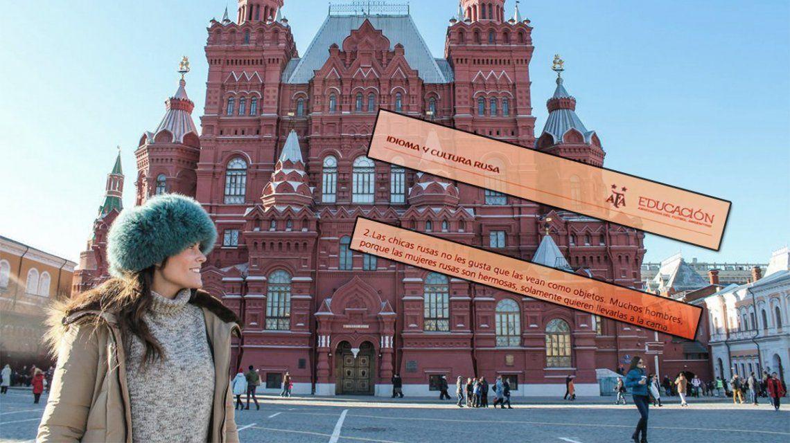 Vergonzoso: los consejos misóginos de AFA para conquistar mujeres en el Mundial de Rusia
