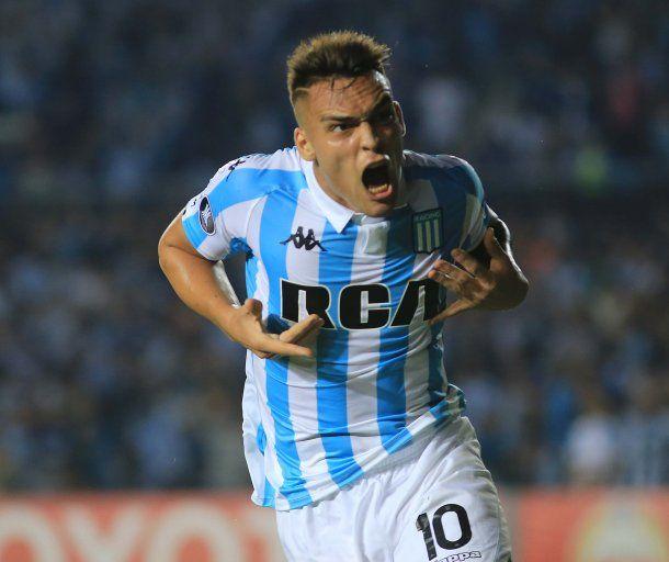 Lautaro Martínez está vendido al Inter de Milán y se está despidiendo de Racing<br>