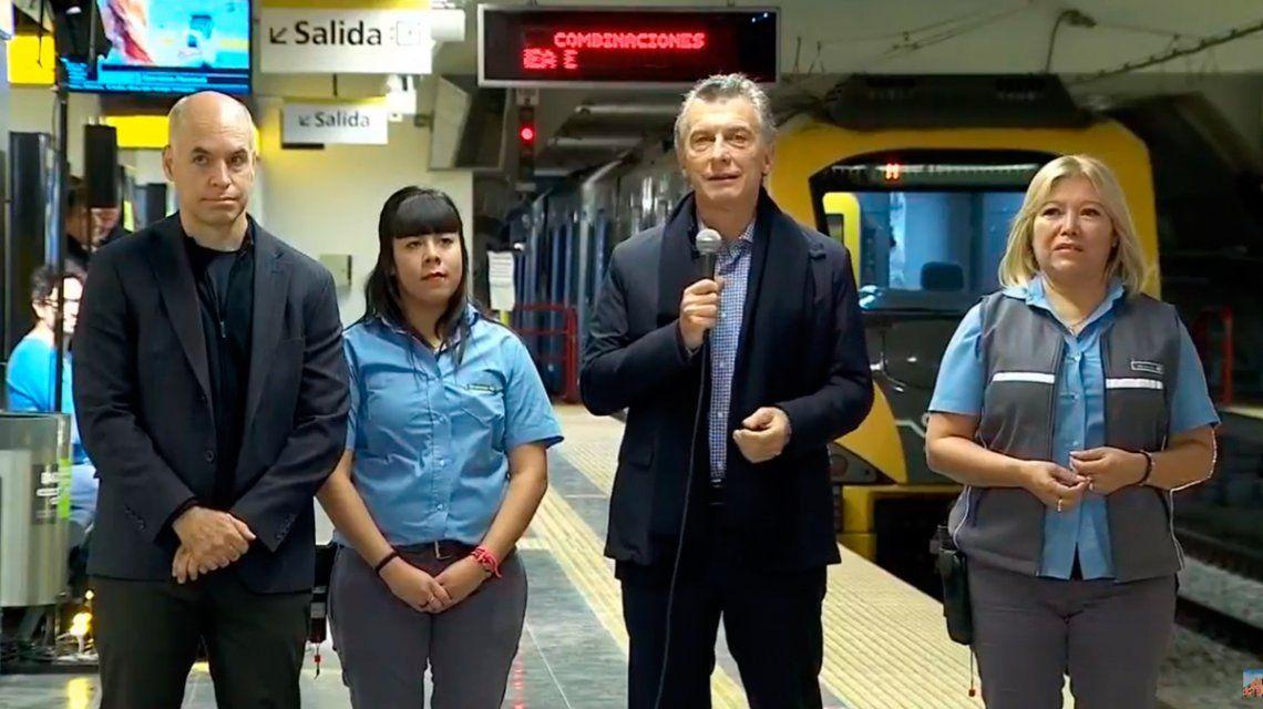 Macri inauguró la estación Julieta Lanteri de la línea H: Dan ganas de venirse a vivir acá