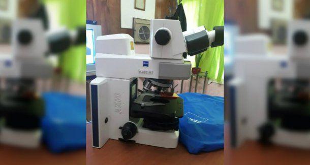 El microscopio robado está valuado en 15 mil dólares