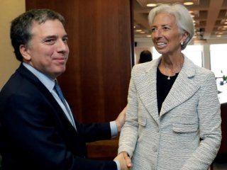 Nicolás Dujovne y Christine Lagarde
